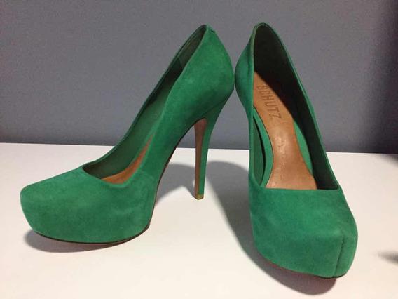 Vendo Sapato Salto Alto Schutz Green