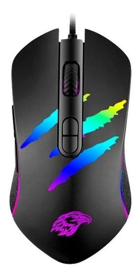 Mouse Gamer K-mex Mo-ya37 7 Botões 3200 Dpi Led Rgb