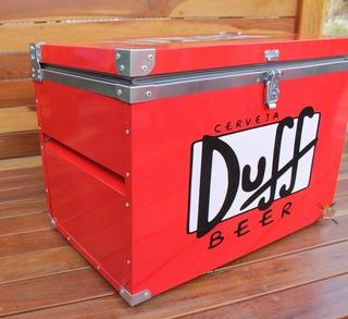 Caixa Térmica 90 Litros ( Duff Vermelha )