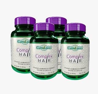 Complex Hair Vitaminas Para Cabelo, Pele E Unha 4 Potes