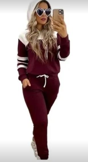 Conjunto Feminino Calça E Blusa Crepe Inverno Frio Barato
