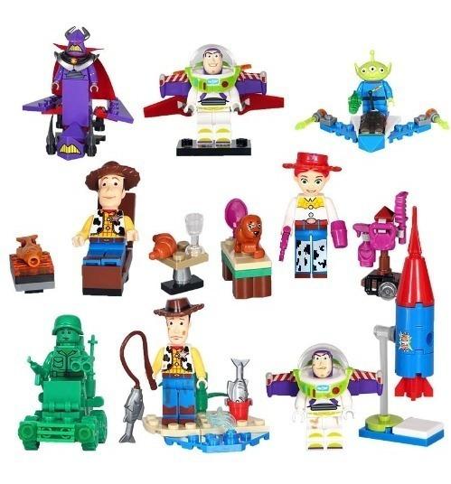 Toy Story Disney Blocos De Montar Lego 8 Personagens Woody