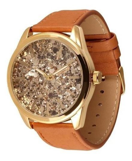 Relógio Euro Feminino Grande Pulseira De Couro Eu2036ajm/2m