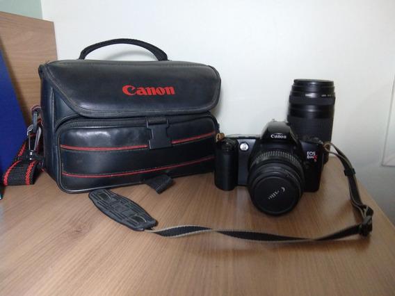 Canon Eos Rebel Xs Analógica Com Lentes 35-80mm E 75-300mm