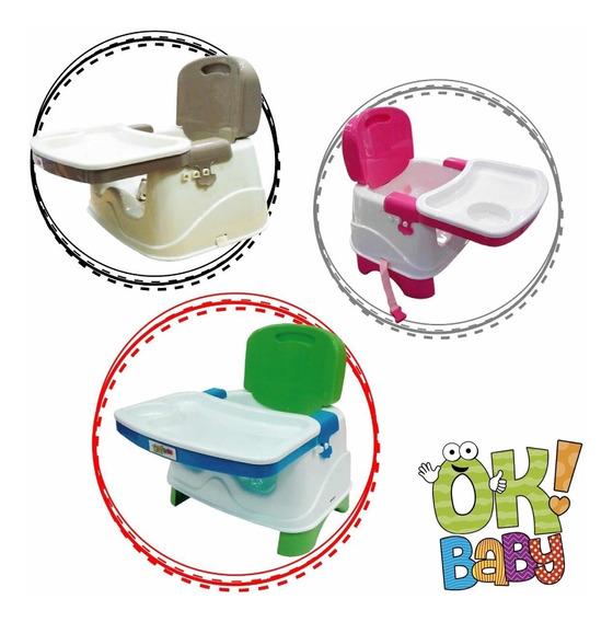 Silla De Comer Bebe Ok Baby Plegable Compacta Resistente