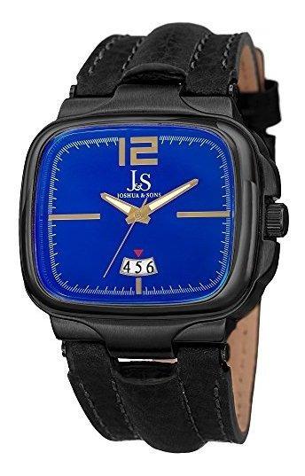 Joshua & Sons Jx117 Reloj Para Hombre Con Bisel Cuadrado, Ve