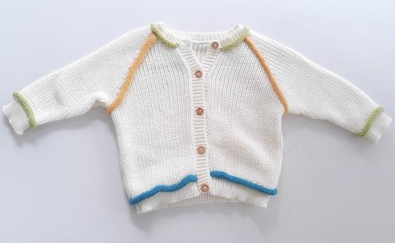 Casaco Bebê Linho Menino Detalhe Colorido- Claire De Anges