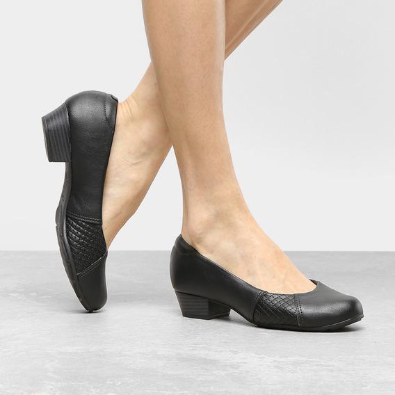 Sapato Ortopédico Modare 7032534 Confort Preto