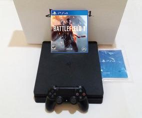 Playstation 4 Ps4 Slim 500gb + Jogo / Usado Promoção