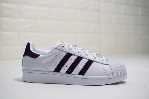 Tenis adidas Da9104 Superstar W Blanco/morado Oscuro