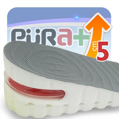 Aumenta Estatura +5cm Plantilla Ortopedica Zapatos Gris