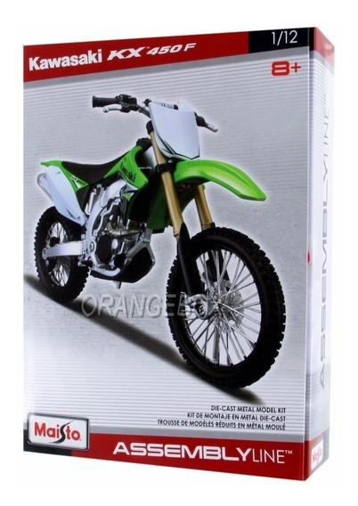 Kit Para Montar Kawasaki Kx450f 1:12 Maisto 39051-8