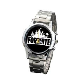 Relógio Masculino Fortnite Prata Lançamento 2019 Com Caixa