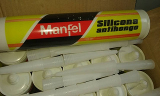 Silicon Antihongo Transparente Marca Manfel 280ml Pack 2unid