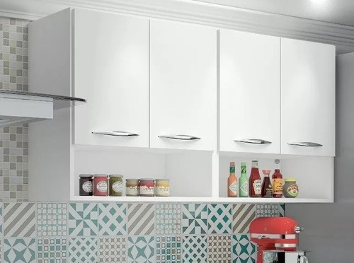 Imagem 1 de 4 de Armario Cozinha Aereo 4 Portas