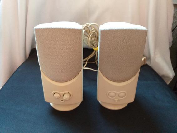 Caixa De Som Amplificada 110v 120w Branca (raridade)