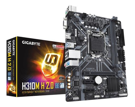 Placa Mãe Gigabyte H310m H 2.0 Intel 1151 Ddr4 H310 8ª 9ª Ge