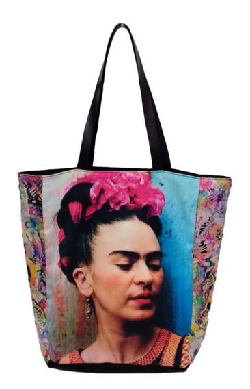 Kit 3 Bolsas Frida Afro Tecido Ecobag Promoção