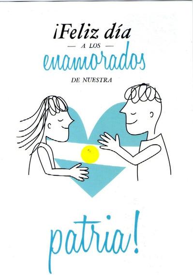 Postal Oficial Correo Argentino - Dia De Los Enamorados