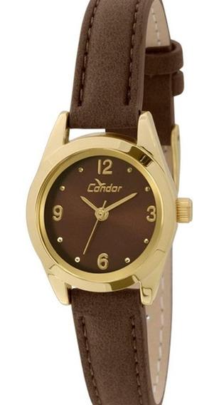 Relógio Analógico Feminino Condor C02035kkz/2m - Dourado