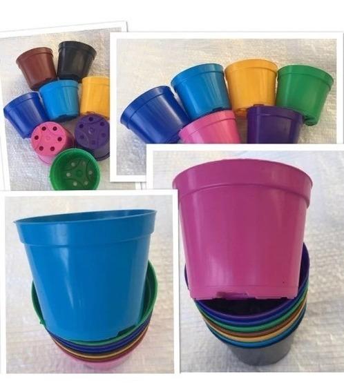 70 Vasos 200 Ml Coloridos Pote 9 Suculentas Lembrancinhas