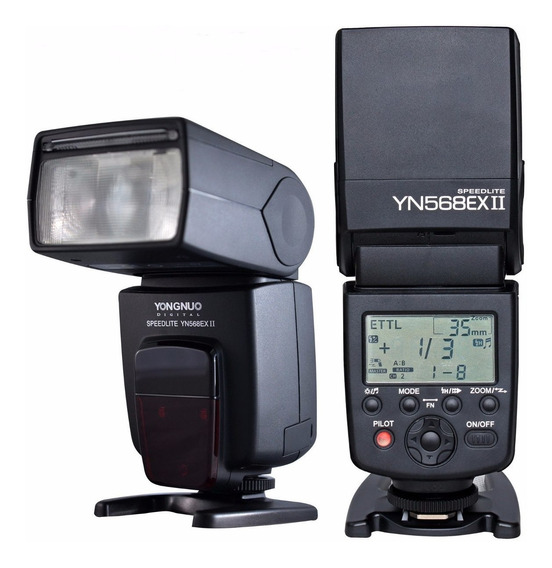 Kit Flash Yongnuo 568 Ex Ii 568ex Canon + Lente 50mm 1.8 Stm