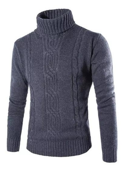 Cacharrel Casaco Blusa Tricot Lã Masculina Canelada Ref: 818
