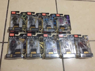 Halo Mega Construx Serie Héroes 10 - 9 Figuras De La Serie