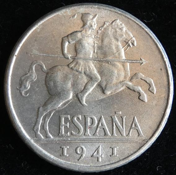 España, Gobierno Nacionalista, 10 Centimos, 1941. Unc