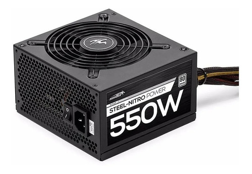 Imagen 1 de 5 de Fuente Pc Gamer 550w Reales 80 Plus 41a Atx Protección Voltaje