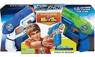 Pistola Lanza Agua X-shot X2 Stealth Soaker 01227 Creciendo