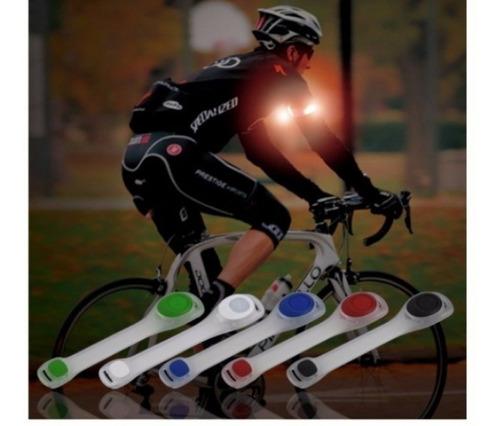 Imagen 1 de 6 de Brazalete Luz Led 50 Lúmenes Moto Bici Corredor Envío Gratis