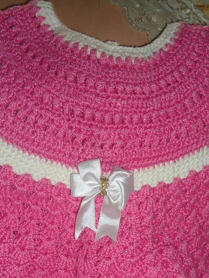 Kit Vestido E Touca De Croche + Brinde