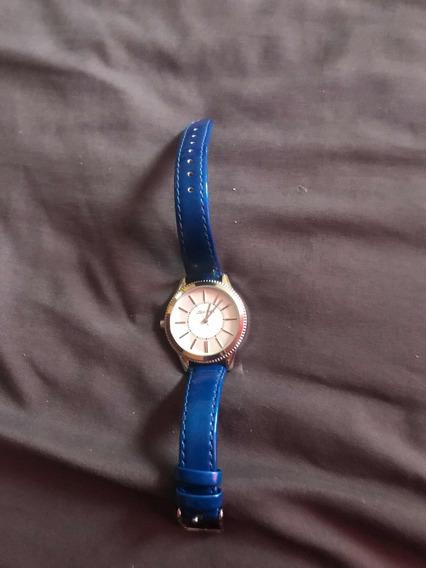 Reloj Azul De Charol Original