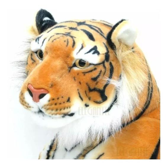 Tigre Pelúcia Real Grande 100cm Decoração Importado Safari