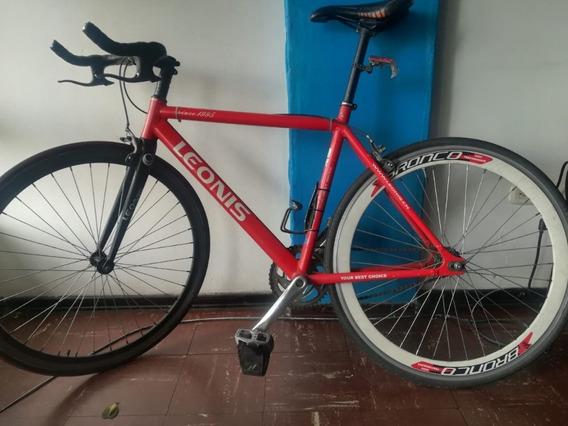 Bicicleta Usada Roja En Aluminio Fixed
