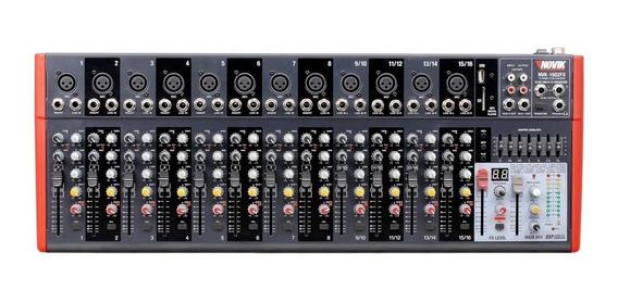 Mesa Mixer 16 Canais Novik Neo Nvk 1602 Bluetooth 220v