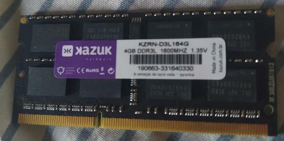 Memória Ram Kazuk 4gb Ddr3l 1.35v 1600mhz