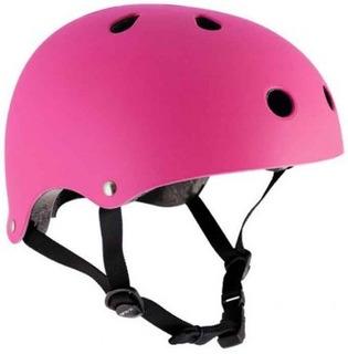 Casco Fucsia Profesional - Bici Skate Patines Cabeza Rosa