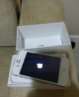 Apple iPhone 4 Branco Semi Novo C Caixa Original Trinco Ios7