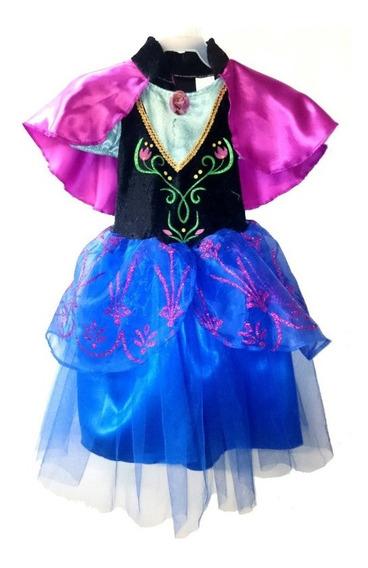 Disfraz Original Anna Frozen Disney Niña Vestido Fantasy Ruz