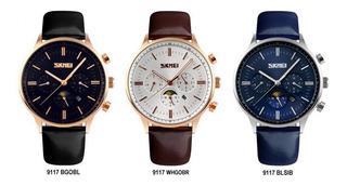 Skmei - Reloj Hombre Cuero Clásico Moderno Elegante