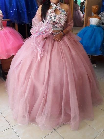 Vestido De Segunda Mano De 15 Años Color Rosa De Onbligera
