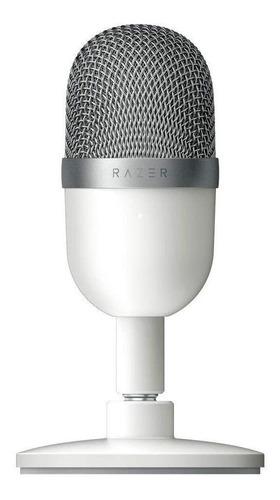 Imagen 1 de 1 de Micrófono Razer Seiren Mini condensador supercardioide blanco mercurio