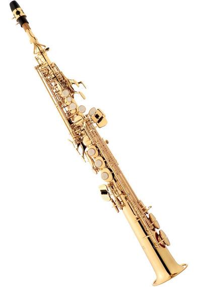 Saxofone Soprano Reto Com Case Sp502 Laqueado