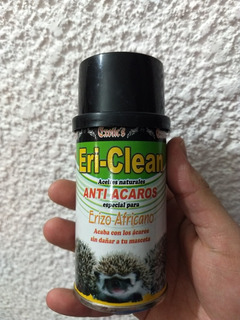 Eri Clean Anti Acaros Erizo Africano Natural 120 Ml Envio Gr
