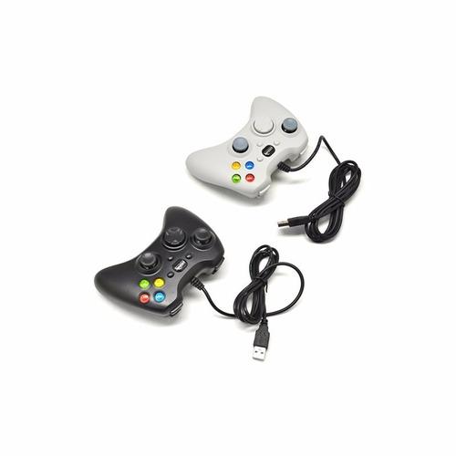 Control Xbox 360 - Pc Alambrico Analogos Ergonomico Promo