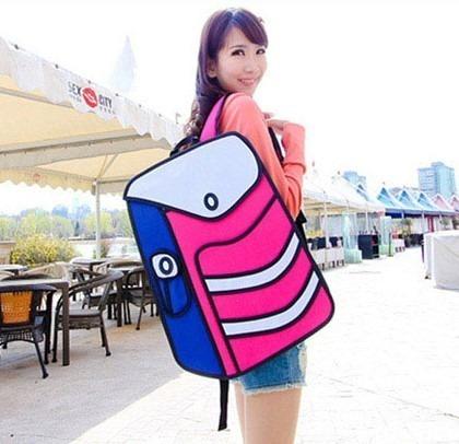 Mochila Bolso Diseño 2d 3d Cartoonbag Backpack Importada 4