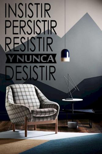Imagen 1 de 5 de Vinil Decorativo Para Pared Frases Letras Insistir, Resistir