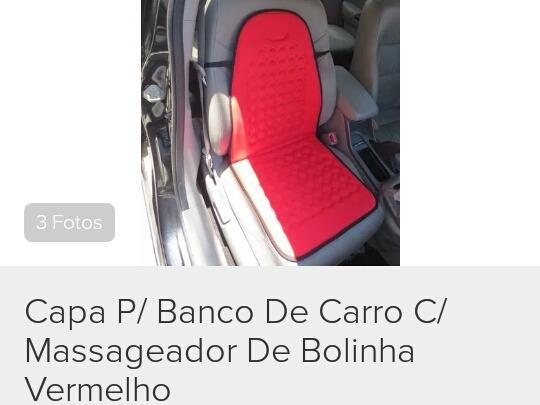 Capa Para Banco De Carro Com Massageador De Bolinhas Várias